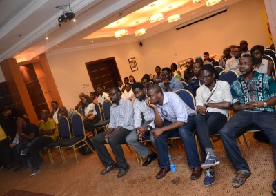 Nigeria's professional photographers listen to the speakers