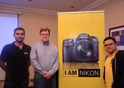 Nikon Middle East and Africa representatives pose with Joe McNally