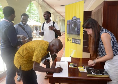Photographers registering for the event